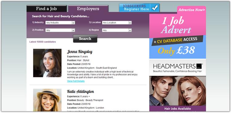 CV Database Screenshot